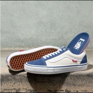 NEW Vans Old Skool Pro Navy White Sneakers